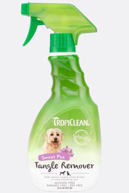 TropiClean Tangle Remover Spray Sweet Pea 16oz