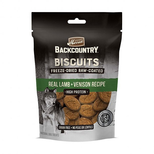 Merrick® Backcountry® Freeze-Dried Raw Coated Biscuit Lamb & Venison Recipe 10oz