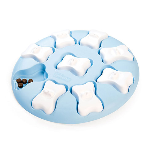 Nina Ottosson Puppy Smart Interactive Treat Puzzle Dog Toy - Blue Plastic