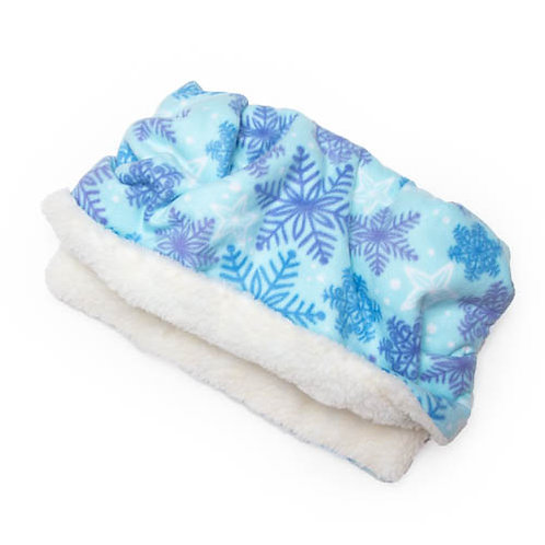 Snowflake Printed Fleece Fabric Pocket Pet Bed