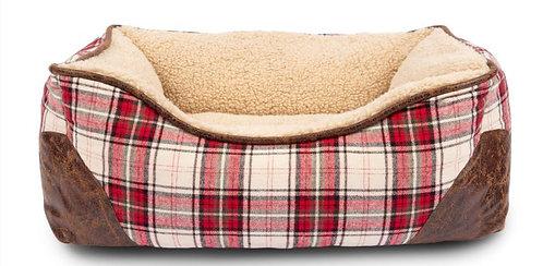 Red & Cream Plaid Bed