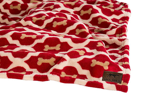 Tall Tails Red Bone Dog Blanket from Pet Food Experts