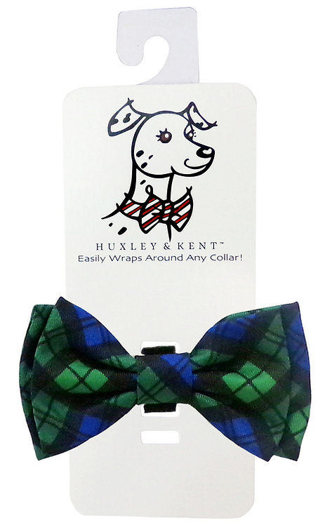 Blackwatch Plaid Bow Tie by Huxley & Kent