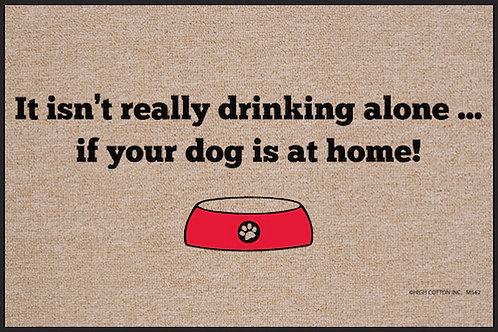 Drinking Alone Doormat