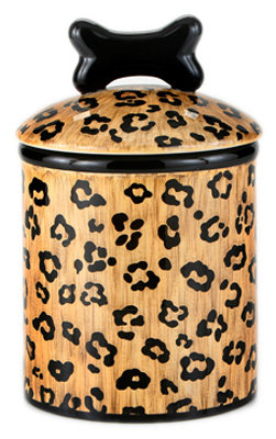 Leopard Ceramic Treat Jars