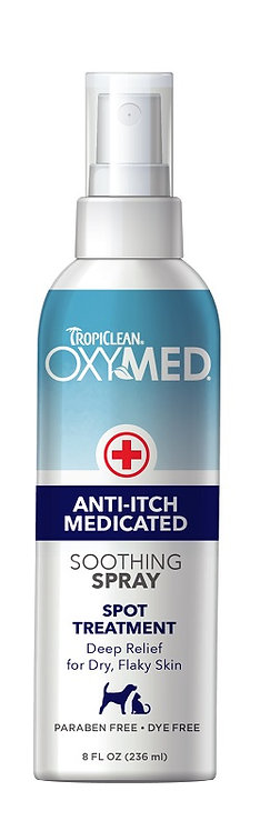 TropiClean OxyMed Medicated Spray - Soothing & Anti Itch 8 oz