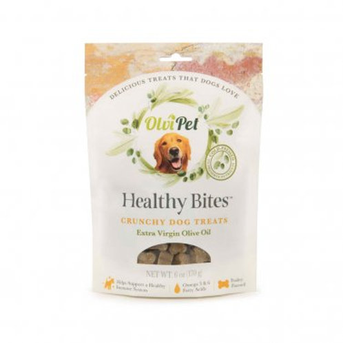 OlviPet® Healthy Bites Olive Oil Based Crunchy Treats for Dogs 6 oz, PDQ