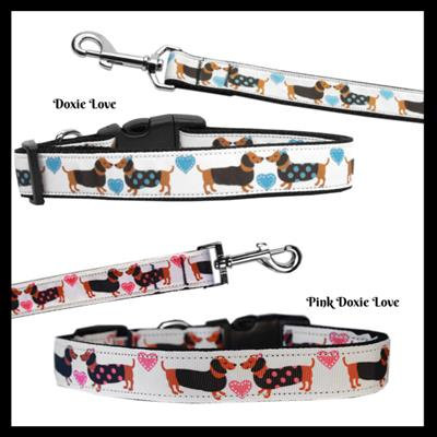 Doxie Love Nylon Pet Collars and Leashes