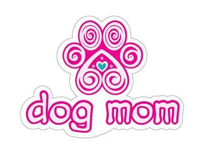 "Dog Mom - 3"" Sticker"