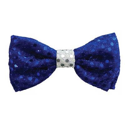 Blue Disco Dot Bow Tie by Huxley & Kent