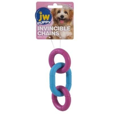 JW® Invincible Chains Puppy Toy Assorted Colors