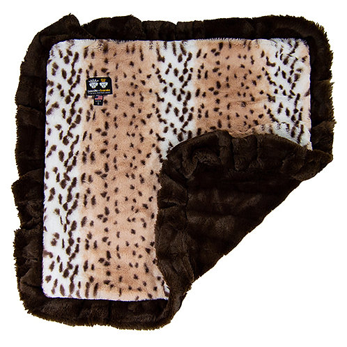 Blanket- Aspen Snow Leopard and Godiva Brown or Customize your Own from Bessie a