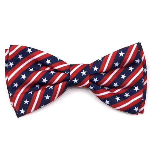 Bias Stars and Stripes Bow Tie from The Worthy Dog