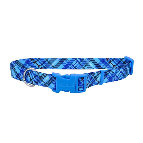 Plaid Bones - Attire Styles Nylon Collars & Leads from Coastal Pet Products