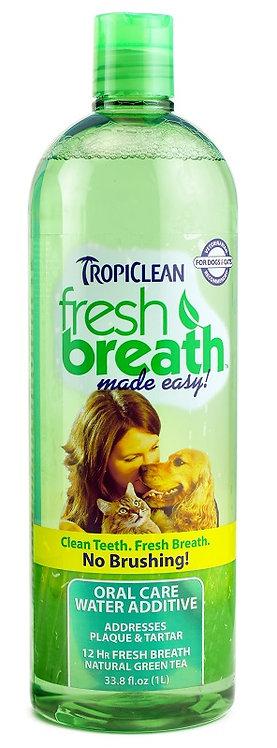 TropiClean Fresh Breath Oral Care Water Additive 16 oz. Bottle