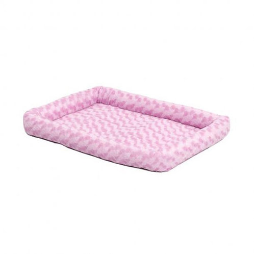 QuietTime® Deluxe Bolster Pet Bed Pink Color 22 Inch By MIDWEST METAL PRODUCTS C