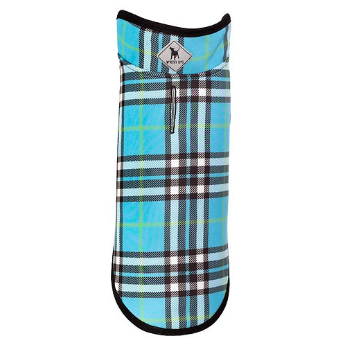 SALE!!!   Blue Plaid Softshell Jacket from The Worthy Dog