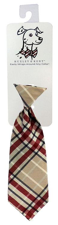 Tan Plaid Long Tie by Huxley & Kent