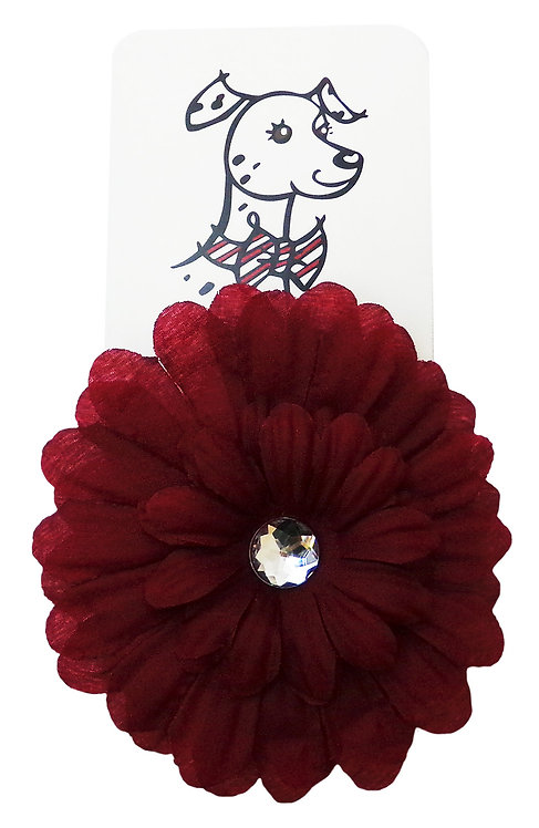 Silk Flower in Dahlia Red Rose by Huxley & Kent