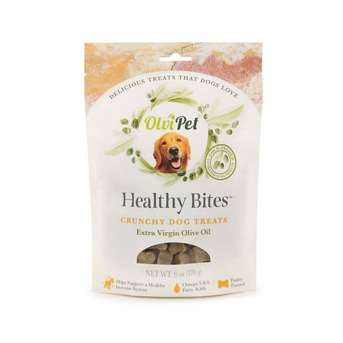 OlviPet® Healthy Bites Olive Oil Based Crunchy Treats for Dogs 6 oz, PDQ