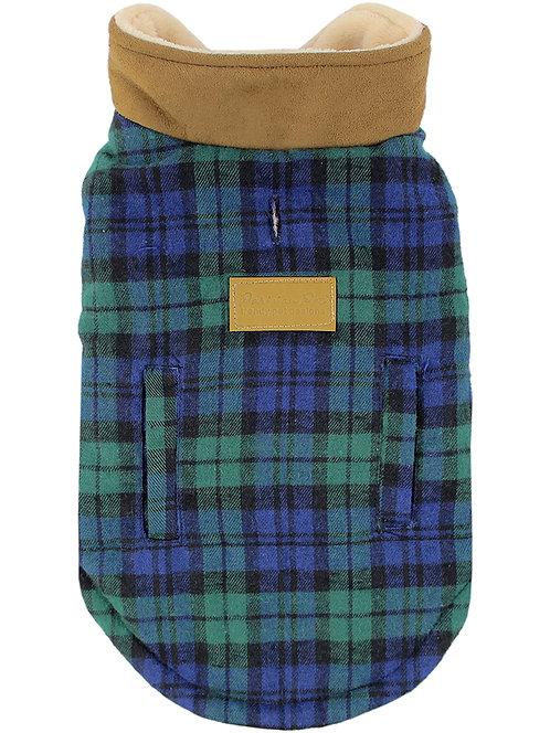 SALE!!!  Scottish Jacket, Green/Blue Plaid from Parisian Pet®