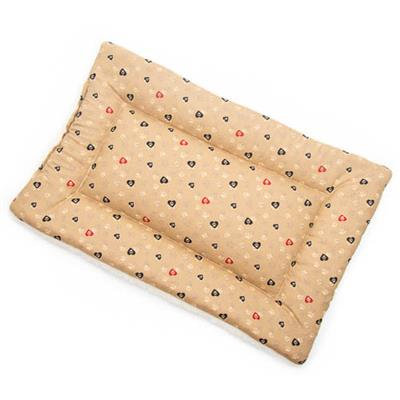 SALE!!!    Caramel Paws in Hearts Cotton Fabric Flat Pet Bed
