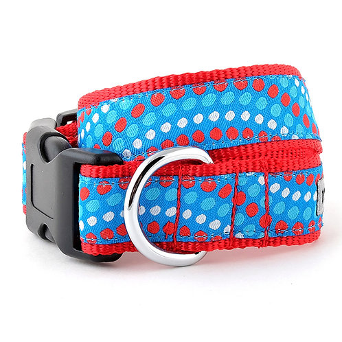 Tidal Wave Red, White and Blue Collar & Lead Collection from The Worthy Dog