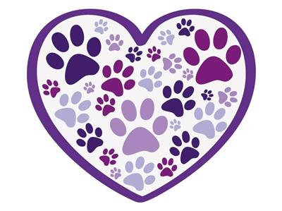 """Heart w/all over paws - 3"""" Sticker"""