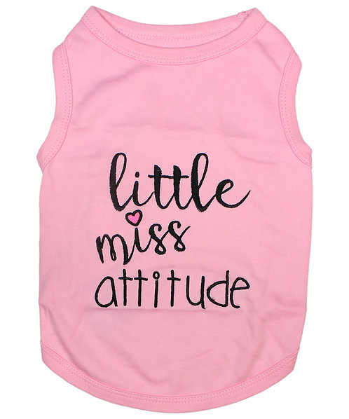 Little Miss Attitude Dog T-Shirt