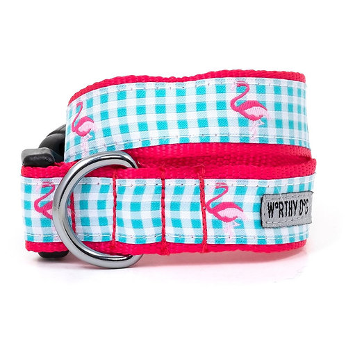 Gingham Flamingo Collar & Lead Collection