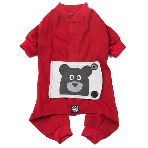 Teddy Bear PJs in Red from PetRageous® Designs!