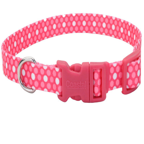 Pink Polka Dots - Attire Styles Nylon Collars & Leads from Coastal Pet Products