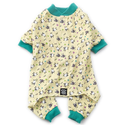 Counting Sheep PJs Yellow with Light Green Trim from PetRageous® Designs!