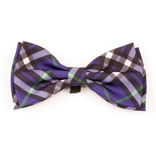 Bias Plaid Purple Bow Tie