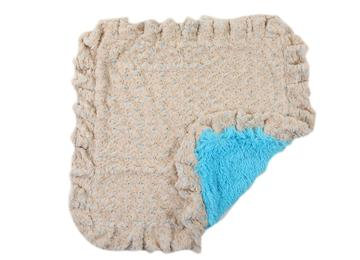 Blue/Beige Rose with Turquoise Shag and Blue/Beige Ruffle SM