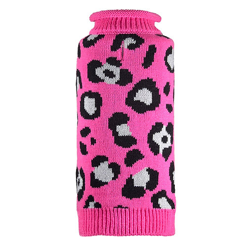 Cheetah Roll Neck Sweater Small from The Worthy Dog
