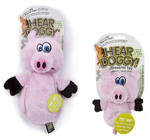 Hear Doggy - Flats Pink Pig with Chew Guard