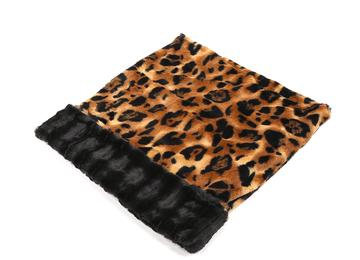 Big Cat with Black Mink Cuddle Pouch