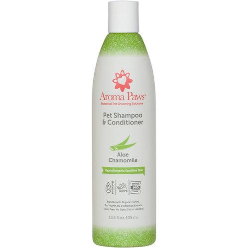Hypoallergenic & Fragrance Free Dog Shampoo & Conditioner in One (13.5 oz)