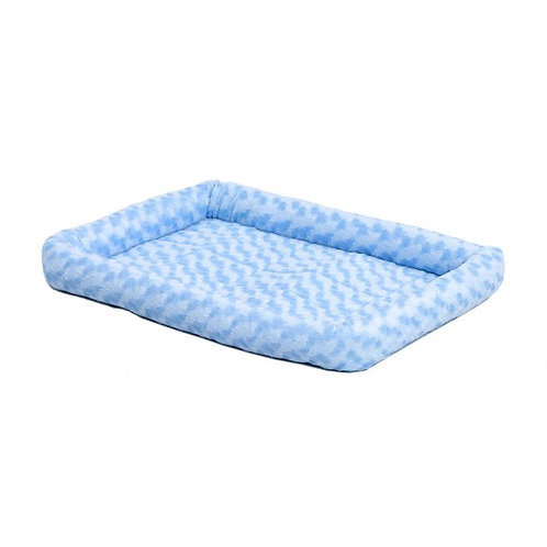 QuietTime® Powder Fashion Double Bolster Pet Bed Blue Color 18 Inch By MIDWEST M