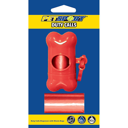 """Duty Calls"" waste bag dispenser and roll - Assorted Colors from digPETS™"