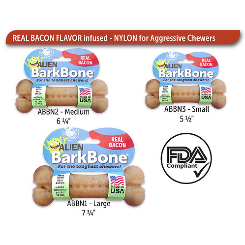 BarkBone Alien Bacon Nylon Chews