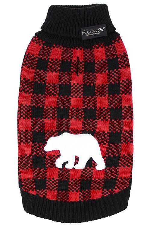 Buffalo Checkered Sweater, Polar Bear from Parisian Pet®