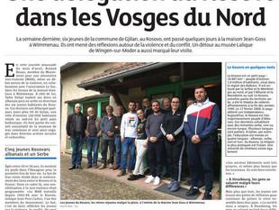De jeunes kosovars de la ville de Gjilan à la Maison Jean Goss