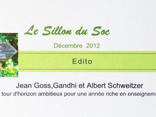 Le SILLON de décembre 2012
