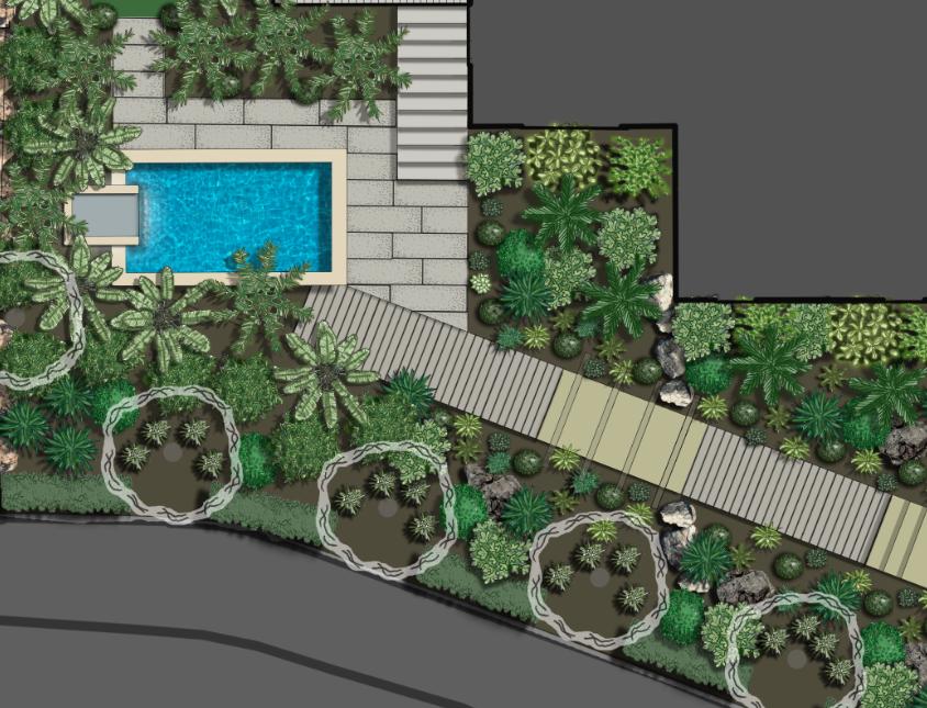 Nelson landscape design consent plan