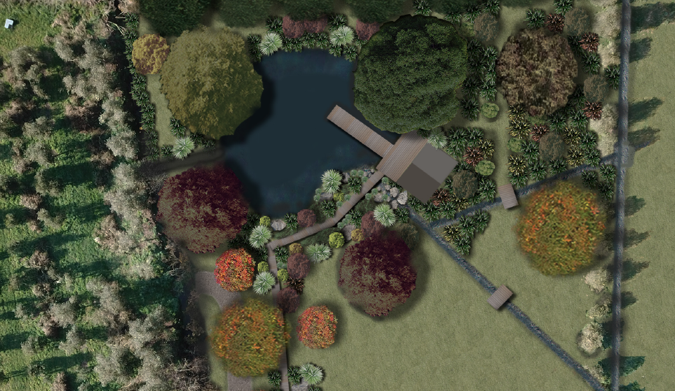 Lakeside retreat landscape plan