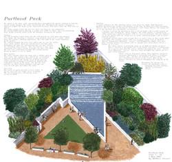 Axonametric garden design