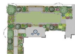 Utilizing narrow garden