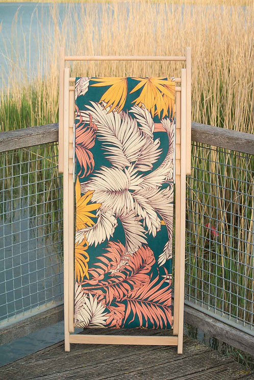 TOILE TROPICAL MOUTARDE